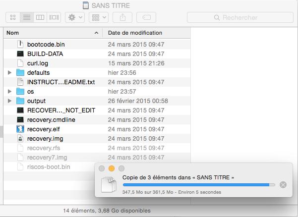 Copie des fichiers recalboxOS vers la carte SD