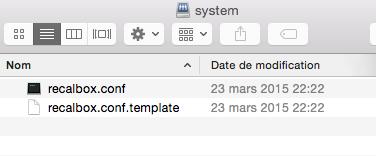 Configuration recalboxOS via partage Samba