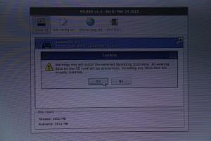 Confirmation de l'installation de recalboxOS
