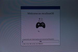 Installation de recalboxOS en cours